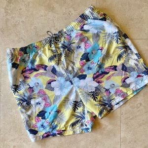 Tommy Bahama Relax Swim Trunks Blue Yellow XXL